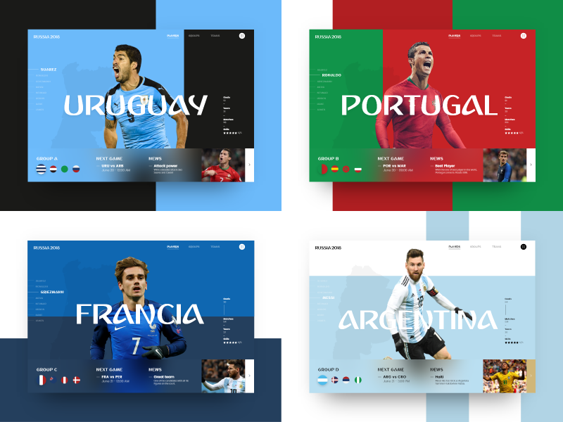Webdesign Brandbox Coupe du monde 2018